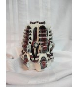 Alabama Crimson Red, Grey, Black, White Double Twists  Candle